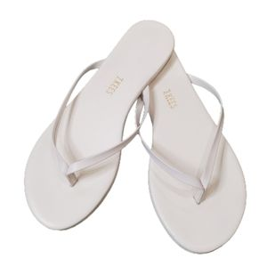 TKEES Lily White Flip Flop Thong Sandals